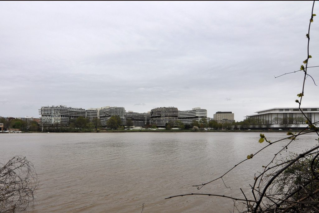 View of the Watergate complex across the Potomac River from Roosevelt Island | © Deane Madsen