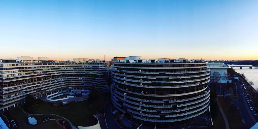 Watergate at dusk